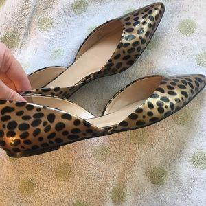 Talbots leopard print flats 8.5